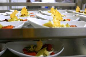 Grossküchenathmo: Beim WECC Catering können Hunderte von Gästen verwöhnt werden.