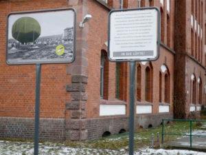 In die Lüfte_Station des Geschichtsparcours an der General-Pape-Straße_Johanna Muschelknautz