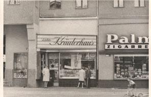 Erstes Geschaeft 1957_Kraeuter Kuehne _Firmem-Historie