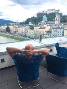 Seven Senses Blick auf die Salzburger Festung Sademann