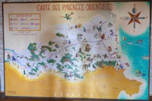 Alte Karte der Region Roussillon_Sademann