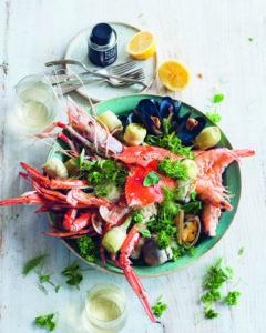 Seite 56 & 57_Gedünstete Meeresfrüchte mit Artischoken und Olivenöl